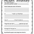 Student Inventory page for welcome back night