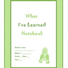 Free Student Learning Notebook/ Binder for the whole class