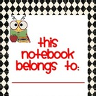 Student Notebook Cover and Dividers Bee Theme