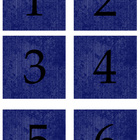 Student Number Magnets - Blue