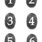 Student Number Magnets - Fingerprints (Detective Theme)