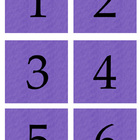 Student Number Magnets - Purple