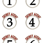 Student Number Magnets - Secret Agents (Detective Theme)