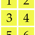 Student Number Magnets - Yellow
