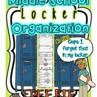 Student Organization Locker Liner Activity