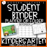Kindergarten Calendar with Common Core, Editable