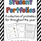 Student Portfolios: a collection of printables for through