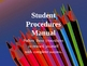 Student Procedures Power Point Presentation