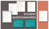 Student Questionnaires (Surveys, Conversation Starters, &