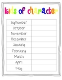 Student Recognition by Month