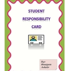 Student Responsibiltiy Card