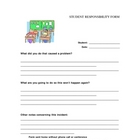 Student Responsibilty Form