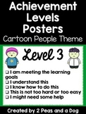 Student Self Assessment Achievement Levels Posters Cartoon Theme