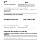 Student Self Evaluation sheet