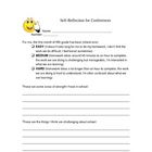 Student Self-Reflection for Parent Conferences