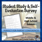 Student Study Survey for Learning Evaluation &amp; Parent Conferences