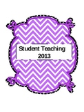 Student Teaching Binder (editable)