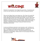 Student Teaching Teacher Welcome Letter
