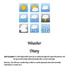 Student Weather Diary- Keep track of forecasts and actual weather