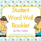 Student Word Wall Booklet