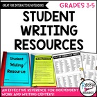 Student Writing Resource Perfect for Interactive Notebooks!