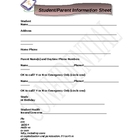 Student/Parent Information Questionnaire