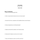 "Study Guide Questions for ""My Antonia"" (8 Pages)"