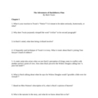 "Study Guide Questions to ""Huckleberry Finn"" (15 Pages)"
