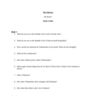 "Study Guide Questions to ""The Odyssey"" (15 Pages)"