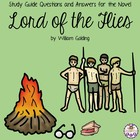 Study Guide Questions with Answers for the novel Lord of t