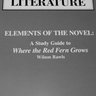Study Guide for Where the Red Fern Grows