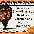&quot;Stuffed&quot; Everything You Need for Literacy and Math in November