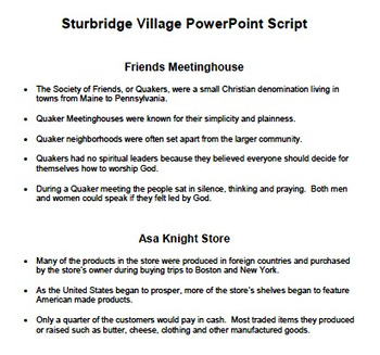 Sturbridge Village: 1830's America