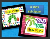 Sub Plans Bundle - 2 days of plans for early primary!!!