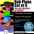 Sub Plans for Any Middle or High School Class: Set of 6 Ea