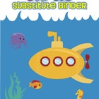 Sub Tub Substitute Binder for Emergency Sub Plans