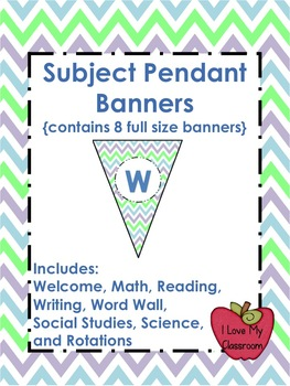 Subject Pendant Banners {8 Full Size Banners - Chevron}
