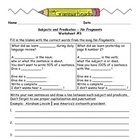 Subject & Predicate Worksheet Packet and Lesson Plan - 8 p