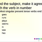 Subject Verb Agreement Powerpoint Review