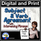 Subject Verb Agreement with Intervening Phrases Grammar Worksheet
