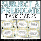 Subject and Predicate Task Cards
