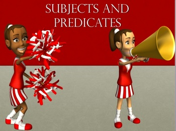 Subject and predicate Sentence Structure PowerPoint lesson