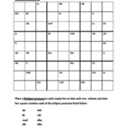 Subject pronouns in Portuguese Sudoku