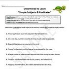 Subjects and Predicates (Simple &amp; Complete) Worksheets