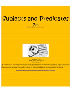 Subjects and  Predicates & Subject and Predicate Mini Less