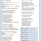 Subjunctive Cloze Activity (song) - La tortura, Shakira &