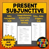 Subjunctive Quiz and Test in Spanish (4 Total)