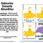 Submarine Semantic Absurdities