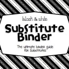 Substitute Binder - Black and White - The Ultimate Sub Bin
