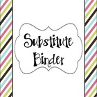 Substitute Binder- Multi-Color Striped
